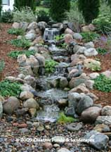 Pondless Waterfall in Plymouth, MN. Click photo to enter gallery
