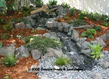 pondless waterfall in St. Paul MN. photo, click to enter gallery