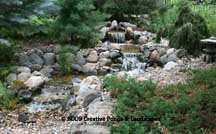 Pondless waterfall installation in Roseville, MN. Click photo to enter gallery