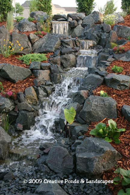 Backyard Hill Waterfall : NEW! Clicking on the Before photo will open a page showing both the