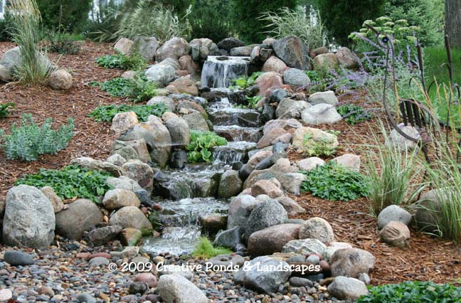 Photo Of Pondless Waterfall Installation In Plymouth, MN.