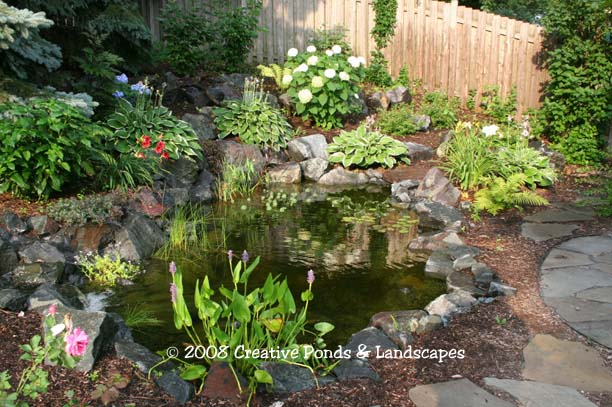 minneapolis st paul mn backyard ponds waterfalls watergardens